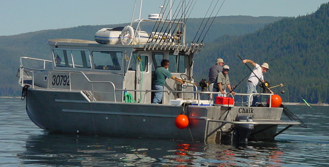 32 charter fishing vessel all american marine for Catamaran fishing boat manufacturers