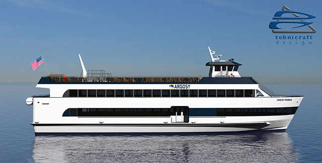 125′ 500-Passenger Monohull - All American Marine | Aluminum Catamarans | Aluminum Boats